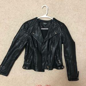 Women's TOPSHOP leather biker jacket